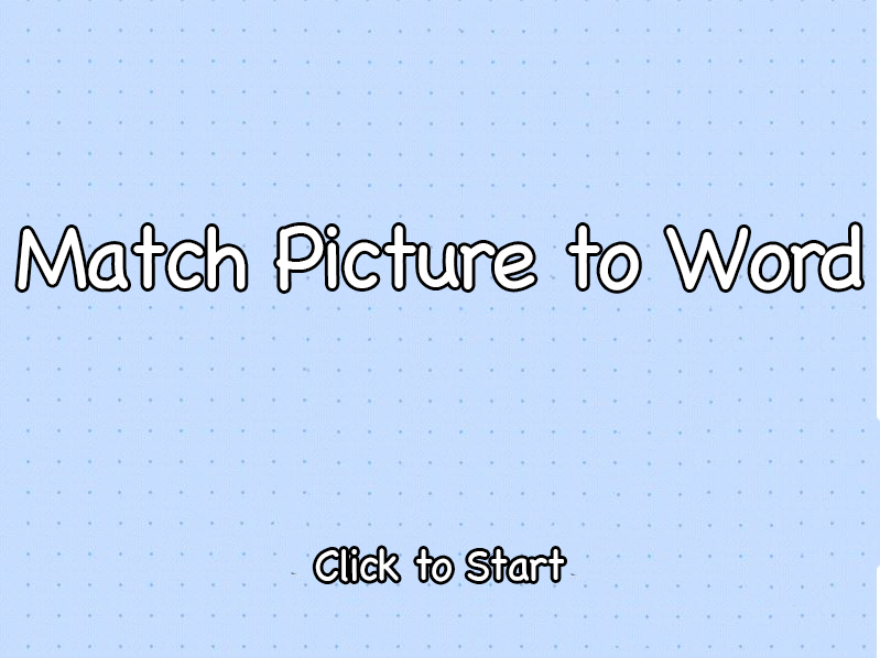 Match Picture to Word